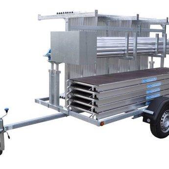 Euroscaffold Steigertransporter met 90x250x10,2 basic rolsteiger