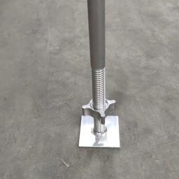 Euroscaffold Aluminium spindel 60cm met voetplaat