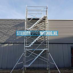Euroscaffold Trappentoren 135x250x6,2m werkhoogte met vloeren