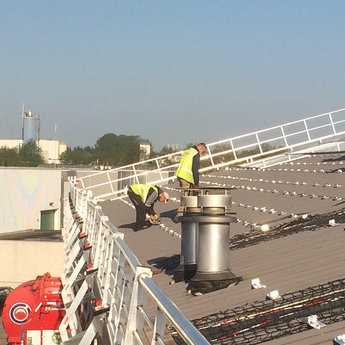 Roof Shelter Kopgevelbeveiliging Roof Shelter 9m complete set