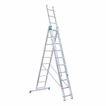 Eurostairs Eurostairs home reform ladder driedelig recht 3x10 sporten