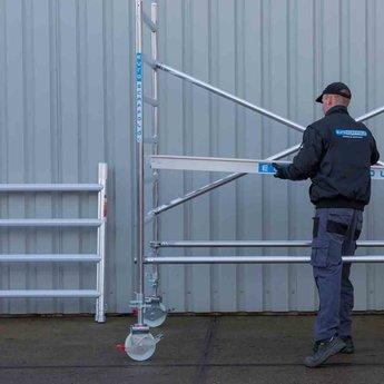 Euroscaffold Standaard rolsteiger 135 x 250 x 6,2m werkhoogte