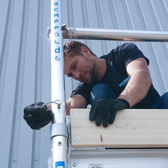 Euroscaffold Basic-line rolsteiger 6,2 meter werkhoogte, vloer 190 cm (tip)