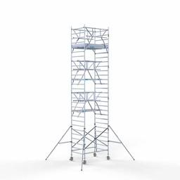 Euroscaffold Rolsteiger met dubbele voorloopleuning 135x190x9,2 meter werkhoogte