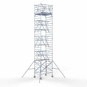 Euroscaffold Rolsteiger met dubbele voorloopleuning 135x190x10,2 meter werkhoogte