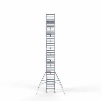 Euroscaffold Rolsteiger met dubbele voorloopleuning 135x190x13,2 meter werkhoogte