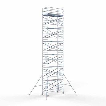 Euroscaffold Rolsteiger met dubbele voorloopleuning 135x250x14,2 meter werkhoogte