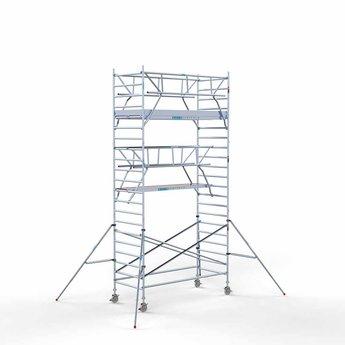 Euroscaffold Rolsteiger met dubbele voorloopleuning 135x305x7,2 meter werkhoogte