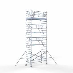 Euroscaffold Rolsteiger met dubbele voorloopleuning 135x305x9,2 meter werkhoogte