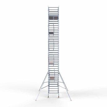 Euroscaffold Rolsteiger met dubbele voorloopleuning 135x305x12,2 meter werkhoogte