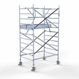 Euroscaffold Rolsteiger met enkele voorloopleuning 135x190x4,2 meter werkhoogte