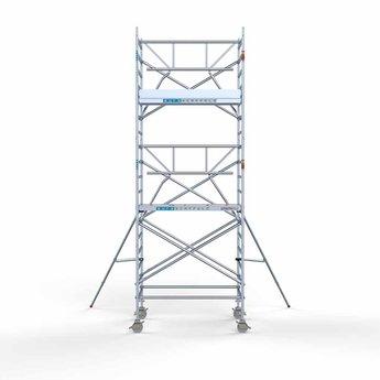 Euroscaffold Euroscaffold Rolsteiger met enkele voorloopleuning 135x190x6,2 meter werkhoogte