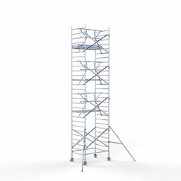 Euroscaffold Rolsteiger met enkele voorloopleuning 135x190x9,2 meter werkhoogte