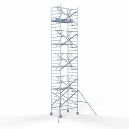 Euroscaffold Rolsteiger met enkele voorloopleuning 135x190x10,2 meter werkhoogte
