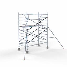 Euroscaffold Rolsteiger met enkele voorloopleuning 135x250x4,2 meter werkhoogte