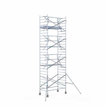 Euroscaffold Rolsteiger met enkele voorloopleuning 135x250x9,2 meter werkhoogte