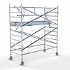Euroscaffold Rolsteiger met enkele voorloopleuning 135x305x4,2 meter werkhoogte