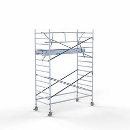 Euroscaffold Rolsteiger met enkele voorloopleuning 135x305x5,2 meter werkhoogte