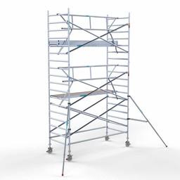 Euroscaffold Rolsteiger met enkele voorloopleuning 135x305x6,2 meter werkhoogte