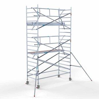 Euroscaffold Euroscaffold Rolsteiger met enkele voorloopleuning 135x305x6,2 meter werkhoogte