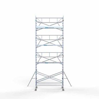 Euroscaffold Rolsteiger met enkele voorloopleuning 135x305x9,2 meter werkhoogte