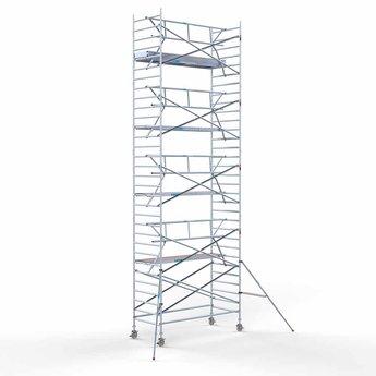 Euroscaffold Rolsteiger met enkele voorloopleuning 135x305x10,2 meter werkhoogte