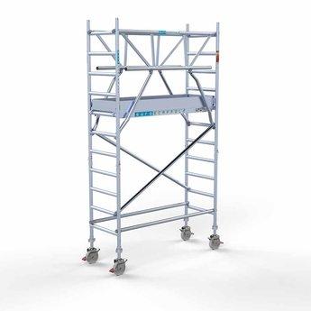 Euroscaffold Rolsteiger met dubbele voorloopleuning 75x190x4,2 meter werkhoogte