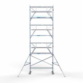 Euroscaffold Rolsteiger met dubbele voorloopleuning 75x250x8,2 meter werkhoogte