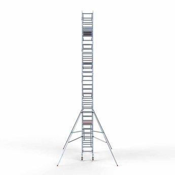 Euroscaffold Rolsteiger met dubbele voorloopleuning 75x250x10,2 meter werkhoogte