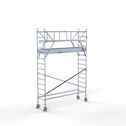 Euroscaffold Rolsteiger met dubbele voorloopleuning 75x305x5,2 meter werkhoogte