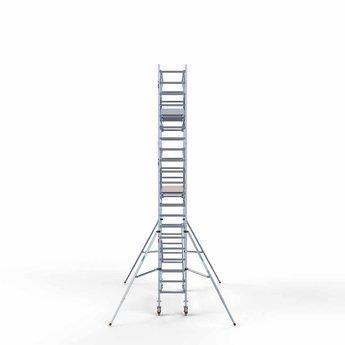 Euroscaffold Rolsteiger met dubbele voorloopleuning 75x305x7,2 meter werkhoogte