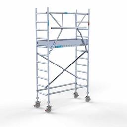 Euroscaffold Rolsteiger met enkele voorloopleuning 75x190x4,2 meter werkhoogte