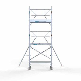 Euroscaffold Euroscaffold Rolsteiger met enkele voorloopleuning 75x190x6,2 meter werkhoogte