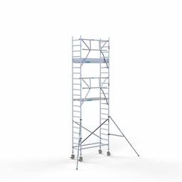 Euroscaffold Rolsteiger met enkele voorloopleuning 75x190x7,2 meter werkhoogte