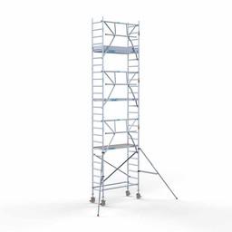 Euroscaffold Rolsteiger met enkele voorloopleuning 75x190x8,2 meter werkhoogte