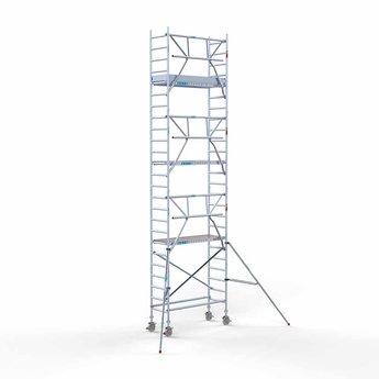 Euroscaffold Euroscaffold Rolsteiger met enkele voorloopleuning 75x190x8,2 meter werkhoogte
