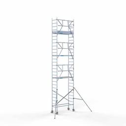 Euroscaffold Rolsteiger met enkele voorloopleuning 75x190x9,2 meter werkhoogte