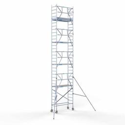Euroscaffold Rolsteiger met enkele voorloopleuning 75x190x10,2 meter werkhoogte