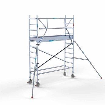 Euroscaffold Euroscaffold Rolsteiger met enkele voorloopleuning 75x250x4,2 meter werkhoogte