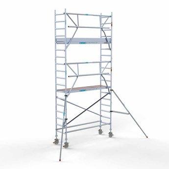 Euroscaffold Euroscaffold Rolsteiger met enkele voorloopleuning 75x250x6,2 meter werkhoogte