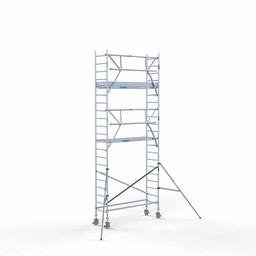Euroscaffold Rolsteiger met enkele voorloopleuning 75x250x7,2 meter werkhoogte