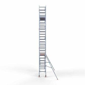 Euroscaffold Euroscaffold Rolsteiger met enkele voorloopleuning 75x250x8,2 meter werkhoogte