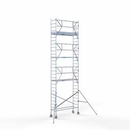Euroscaffold Rolsteiger met enkele voorloopleuning 75x250x9,2 meter werkhoogte