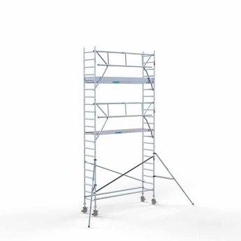 Euroscaffold Euroscaffold Rolsteiger met enkele voorloopleuning 75x305x7,2 meter werkhoogte