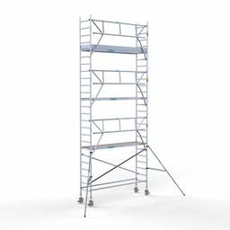 Euroscaffold Rolsteiger met enkele voorloopleuning 75x305x8,2 meter werkhoogte