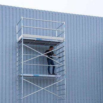 Euroscaffold Basic-line rolsteiger 90x250x8,2 meter werkhoogte, vloer 250cm