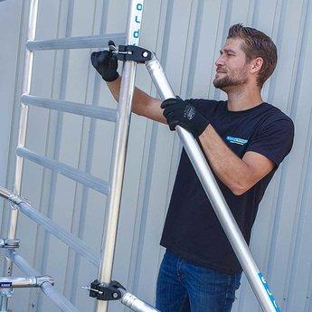 Euroscaffold Basic-line rolsteiger 90x190x10,2 meter werkhoogte, vloerlengte 190