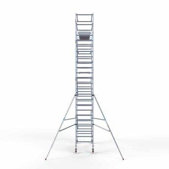 Euroscaffold Standaard rolsteiger 90x250x8,2 meter werkhoogte, vloer 250cm