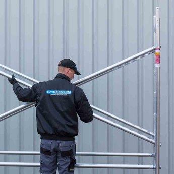 Euroscaffold Standaard rolsteiger 135 x 250 x 14,2m werkhoogte