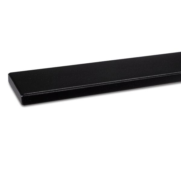 Zwarte trapleuning gecoat vierkant 50*10